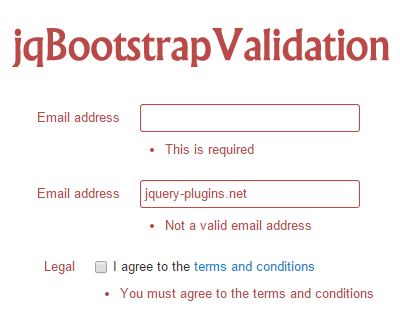 jqBootstrapValidation – jQuery Validation Plugin for Bootstrap