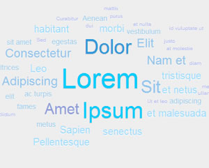 jQCloud - Beautiful Word Clouds With jQuery