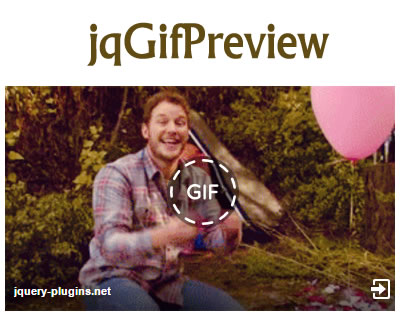 jqGifPreview – Facebook Like GIF Preview with jQuery
