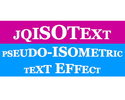 jqIsoText - jQuery Text Effect Plugin