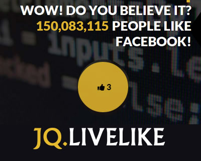 JQ.LiveLike – Facebook Like Counter