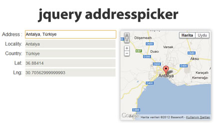 Address Picker Plugin with Map Display