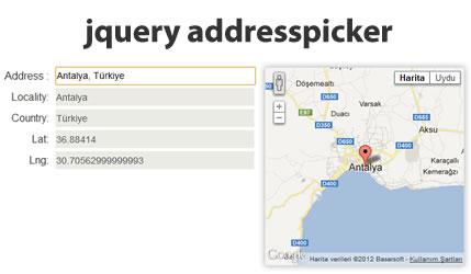 Address Picker Plugin with Map Display | jQuery Plugins