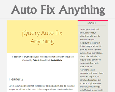 fixto – jQuery Plugin for Sticky Positioning | jQuery Plugins