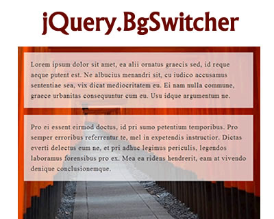 jQuery.BgSwitcher – Switch Background Image with Effects
