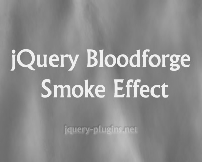 jQuery Bloodforge Smoke Effect