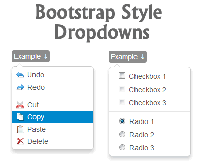 jQuery Bootstrap Style Dropdowns
