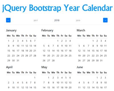 jQuery Bootstrap Year Calendar