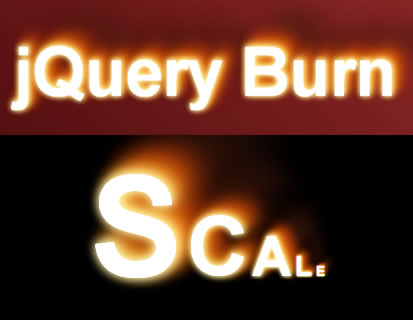 jQuery Burn – Burn Effect for Text