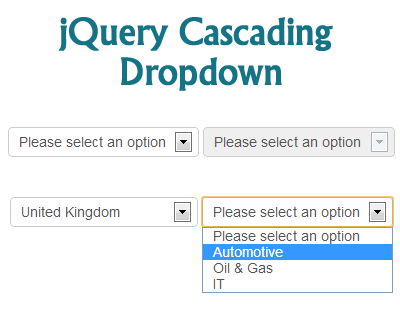 jQuery Cascading Dropdown Plugin