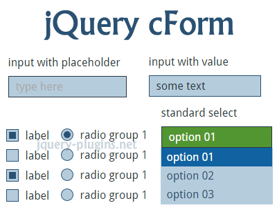 jQuery cForm – jQuery Plugin to Style Your Forms