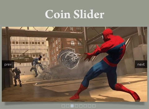 Coin Slider - Image Slider with Unique Effects