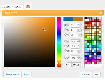 jQuery Colorpicker in jQuery UI Style