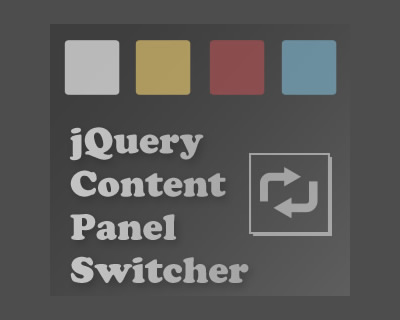jQuery Content Panel Switcher