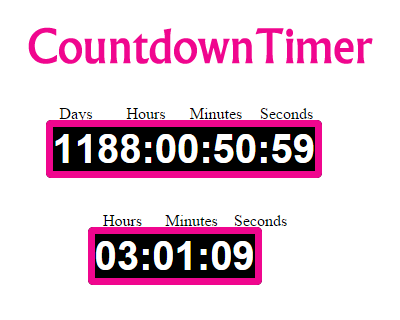 jQuery CountdownTimer Plugin