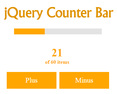 jQuery Counter Bar Animation