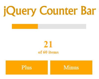 jQuery Counter Bar Animation