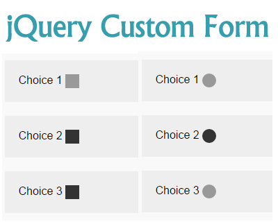 jQuery Custom Form