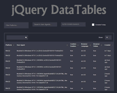 jQuery DataTables – Sort, Page, and Filter Millions of