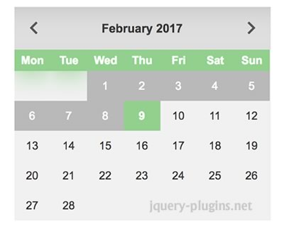 jQuery.datepicker – Futuristic Datepicker for Web