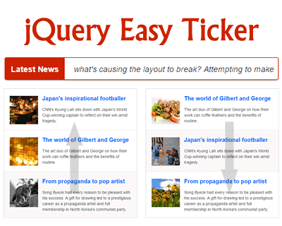 jQuery Easy Ticker
