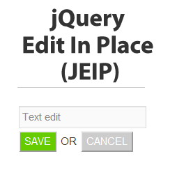 jQuery Edit In Place Plugin