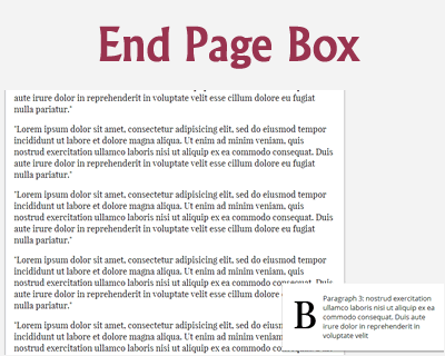 jQuery End Page Box Plugin