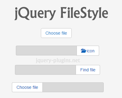 jQuery Filestyle – jQuery Plugin to Create Custom File Input