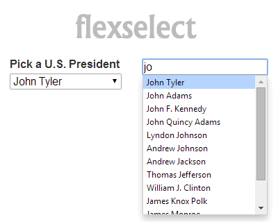 flexselect – jQuery plugin for Flex-Matching Incremental-Finding Controls