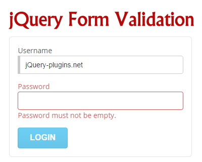 jQuery  Form Validation