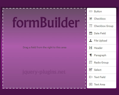 jQuery formBuilder – Drag and Drop Form Builder