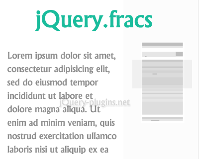 jQuery.fracs – Determine Visible Fractions of HTML Element