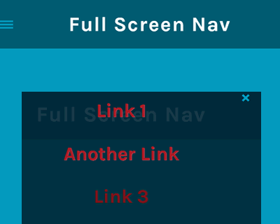 jQuery Full Screen Nav