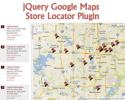 jQuery Google Maps Store Locator Plugin