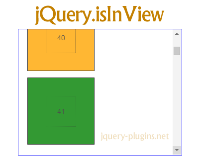 jQuery.isInView – Detects If Elements Are Inside of Viewport
