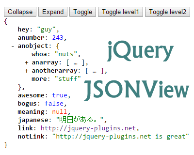 jQuery JSONView – Formats & Syntax Highlights JSON
