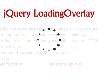 jQuery LoadingOverlay – Flexible Loading Overlay with jQuery
