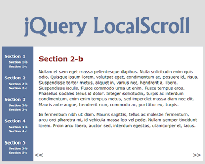 jQuery LocalScroll – jQuery Plugin to Animate Anchor Navigation