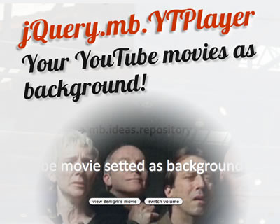 jquery.mb.YTPlayer -  jQuery YouTube Video Plugin