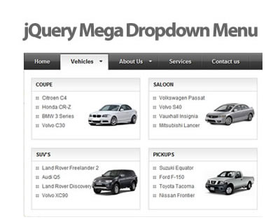 jQuery Mega Drop Down Menu Plugin