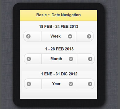jQuery Mobile Date Navigation Plugin