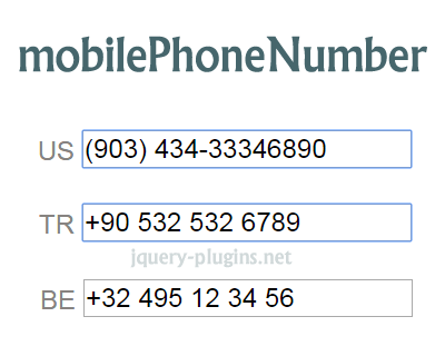 jQuery.mobilePhoneNumber – Library for Validating & Formatting Mobile Phone Numbers