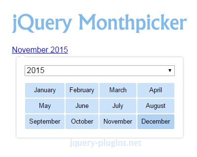 jQuery Monthpicker