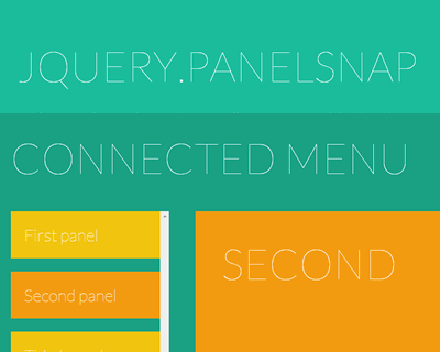 jQuery.panelSnap – Snaps Content After Scrolling