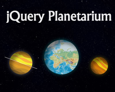 jQuery Planetarium – Construct an Interactive Planet on Your Website