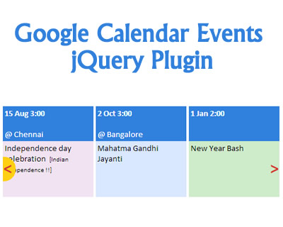 jQuery Plugin to Show Google Calendar Events on Your Website