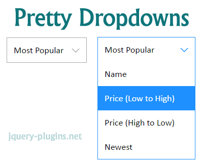 jQuery Pretty Dropdowns