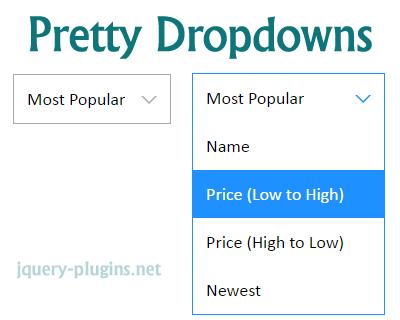 jQuery Pretty Dropdowns