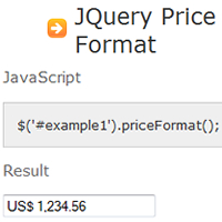 jQuery Price Format Plugin