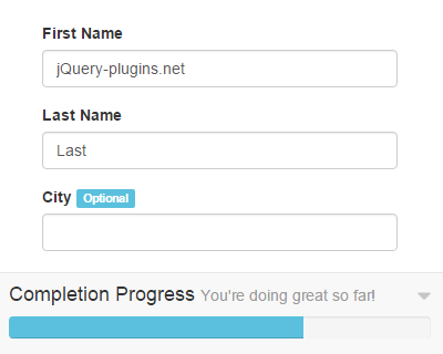 jQuery Progress Bar